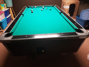 Pool table and accessories etc