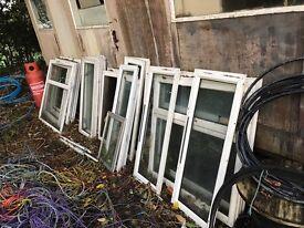 Used pvc and aluminium windows