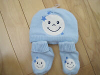 Mathing winter hat and booties - brand new