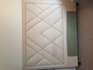 QUEEN size studded upholstered headboard