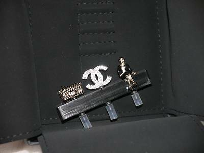 AUTH NEW 2014 CHANEL CELL PHONE HEAD CHARMS ACCESSORY A SET OF 3 ANTI-DUST CAP