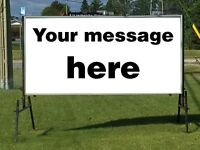 8' x 4' Solid Steel Double-Sided Sign