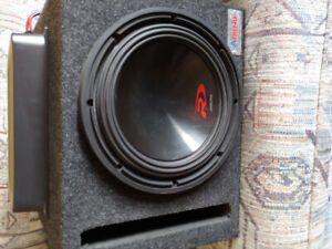 Pioneer amp with alpine subwoofer with ported box