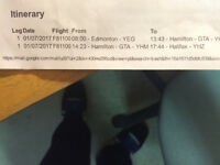 2 airline tickets