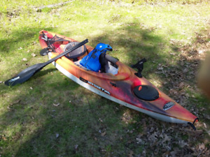 Fishing Kyak - Paddle, Rod & Reel, Accessories included