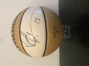 Limited Edition NBA Gold Series Autographed Vince Carter bball