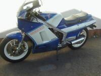SUZUKI RG400 GAMMA BLUE/WHITE ONLY 3461 MILES