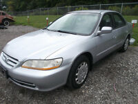 2002 HONDA ACCORD  4CYL AUTO 4 DR SENIOR OWNED