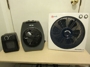 "For sale 12"" fan, 3 speeds, rotating grill and two hours timer"