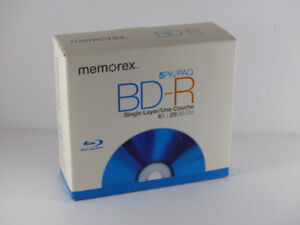 Memorex BD-R Single Layer (25GB) Recordable Blu-Ray Discs
