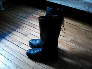 Bottes hiver cuir véritable taille 9 - Leather winter boots