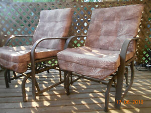 great condition glider patio chairs with cushions