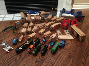 Thomas the Train Wooden Track and Trains - Huge Lot