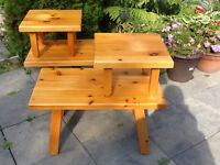 Knotty Pine End Tables, set of 2
