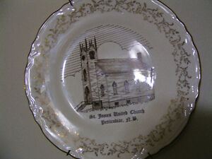 St. James United Church Petitcodiac, N.B. Memoyal Plate