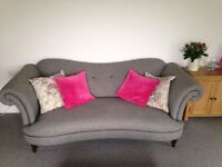 Grey 3/4 seater sofa. 9 months old. Barely used