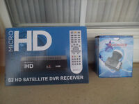 FREE TO AIR SATELLITE RECEIVER AND THE LAMP NEW IN BOX UNOPENED