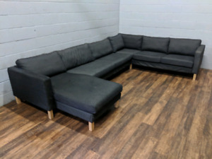 (Free Delivery) - Ikea karlstad U-shape sectional