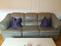 2 TAUPE LEATHER COUCHES FOR SALE IN GOOD CONDITION!!!!