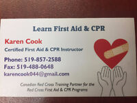 Red Cross First Aid & CPR training, and MOL & WSIB training