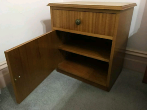 2x Bedside cupboard with drawer