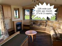 Very Cheap 12ft 3 Bed Static Caravan For Sale in North Wales near Towyn, Conwy