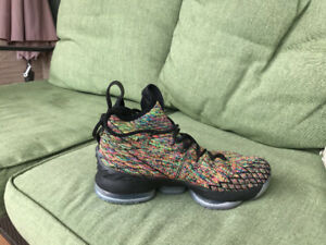 La Bron James 15 multi colour basketball shoes