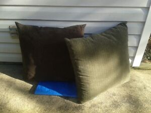 2 Large Fireplace/Floor Cushions