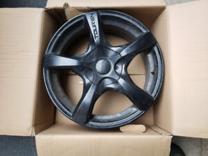 "17"" Black Alloy  Rims/wheels - Set of 4 - Great Condition $380"