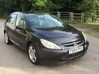 Peugeot 307 D turbo hdi black half leather