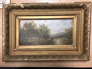 2 x paintings 1890 Austria 19th century