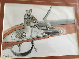 """""""Brown Bess"""" water colour print by BARDAY"""