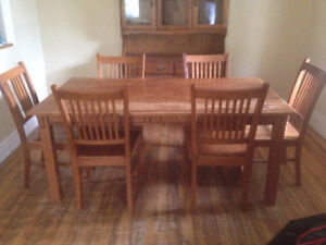 Dining Room table with 6 chairs, Hutch sells separately