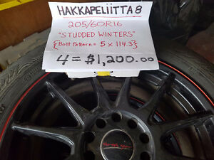 Four Studded WINTER tires & rims for Sale