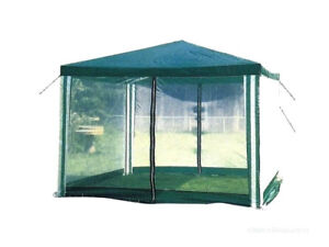 Large outdoor screened canopy tent