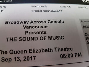Sound of Music Musical Sept 13 $124