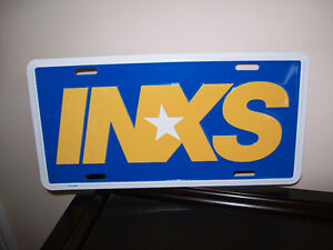 """INXS"" metal license plate - like new - only $2"