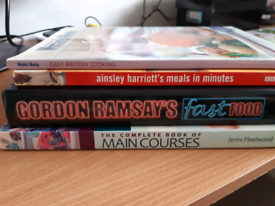 Recipe books - Gordon Ramsay, Ainsley Harriott, etc