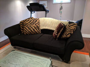 Couch set with love seat, chair, coffee and side table