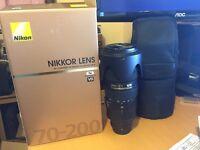 Nikon Nikkor 70-200mm AF-S f/2.8G ED VRII Lens