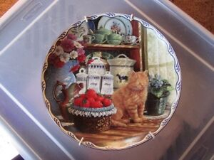 COLLECTIBLE PLATES  BRADFORD EXCHANGE - CATS - REDUCED!!!!
