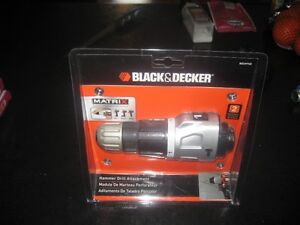 black and decker hammer drill attachment new in package