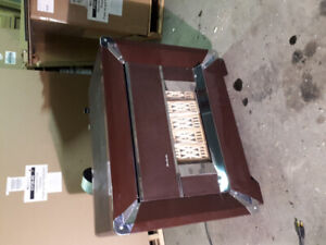 Warm morning vintage gas fireplace excellent condition, works.
