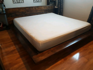 King size bed frame,platform.