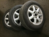 "3 Orlando 14"" VW rims with tires Fits Honda Nissan 4x100"
