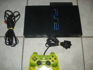 PS2 FAT w/1 Controller,Network Adapter w/40GB HD & Game!