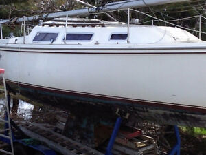 1980 Catalina 26 Foot SailBoat and Trailer For Sale