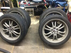 """22"""" BOSS 313 wheels and tires"""