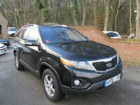 2011 (61) KIA SORENTO 2.2 CRDI KX-2 4X4 AUTOMATIC + FULL BLACK LEATHER & 7 SEATS