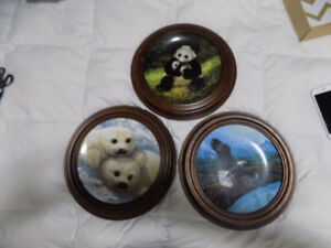 3 Collectors Plates with Certificates of Authenticity
